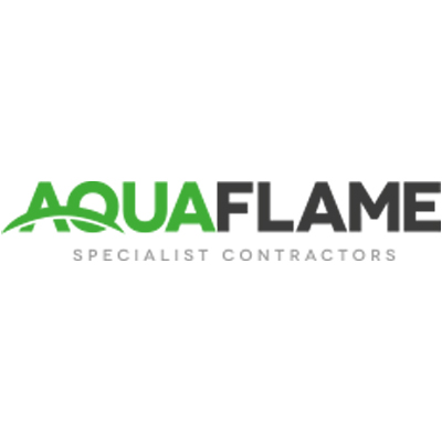 aquaflame logo providing a review for electrical services elitenet carried out for them