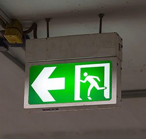 emergency lighting maintenance sign in underground car park elitenet