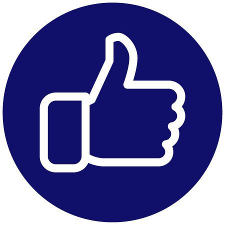 job completed thumbs up icon